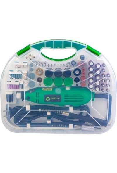 Portek Mini Taşlama Seti Kalıpçı 180W PRT011