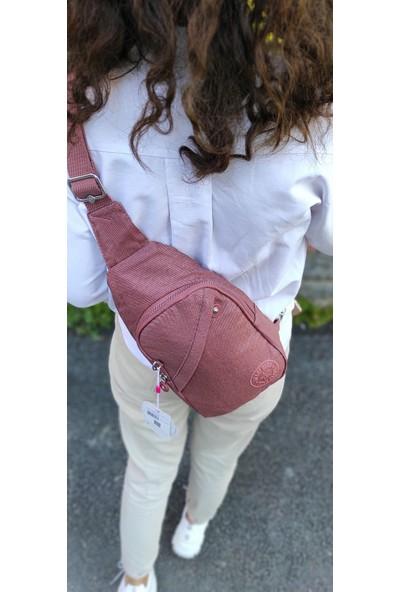 Smart Bags 101239 Kiremit Denim Kumaş Bodybag Sırt Çantası