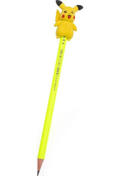 Vuki 3D Sarı Silgili Kurşun Kalem