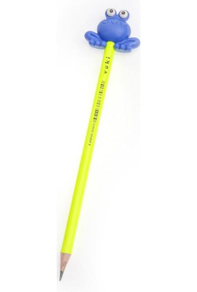 Vuki 3D Kurbağa Silgili Kurşun Kalem