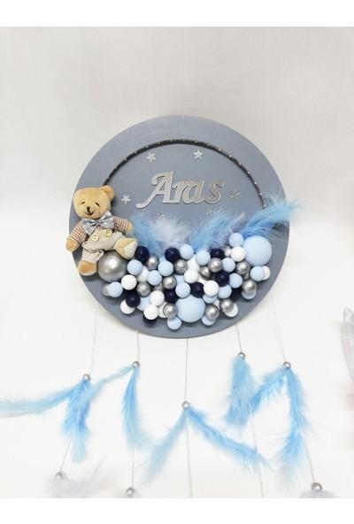 Mavinin Tükkanı Yuvarlak Bebek Kapı Süsü Ledli YVR-101