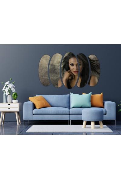 Renkselart Kadın Saç Modeli Kuaför Mdf TABLO-1038
