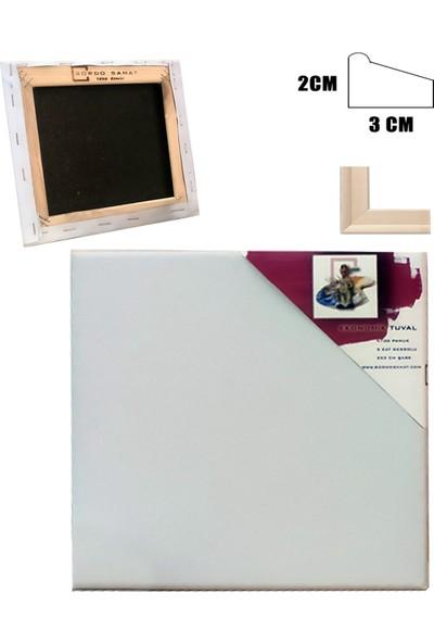 Bordo Sanat Ekonomik Tuval 10 x 10 cm