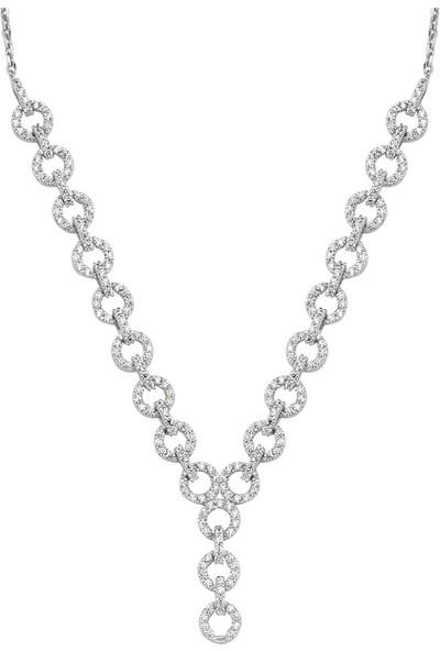Altınköşe Beyaz Altın Nişan Seti 14 Ayar AKSM027