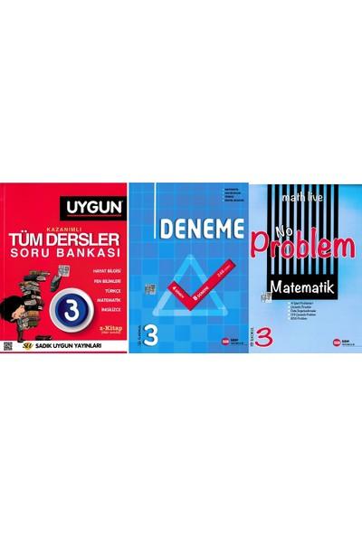 Sadık Uygun Yayınları 3. Sınıf Tüm Dersler Sbm Deneme ve No Problem Matematik 3. Kitap