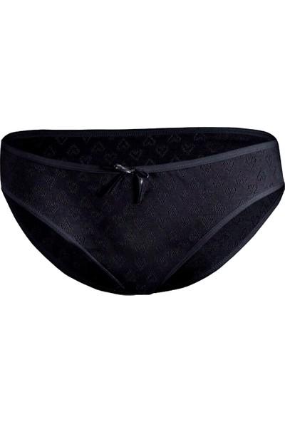 Özten Kadın 12'li Paket Kalpli Bikini Külot