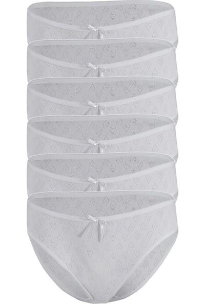 Özten Kadın 6'lı Paket Kalpli Bikini Külot