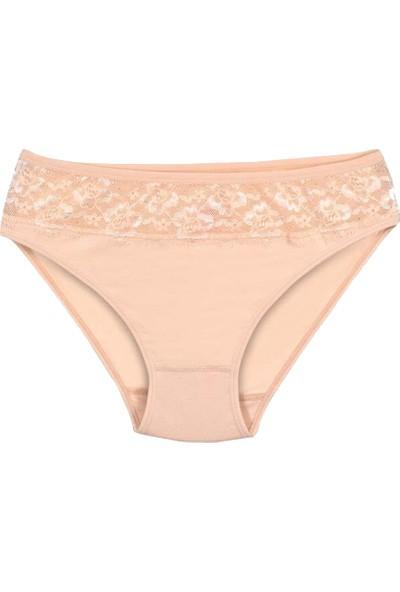 Özten Kadın 12'li Paket Modal Dantelli Bikini Külot