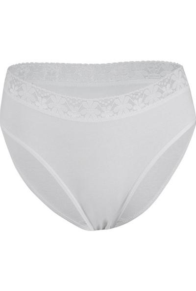 Özten Kadın 12'li Paket Beli Dantelli Bikini Külot