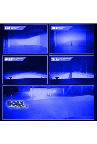 C9 Bosx Ultra Deli Mavi LED Xenon Far Ampulü 4400LM 15000K H4