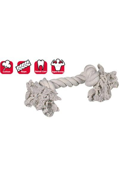 Karlıe 2 Düğümlü Ip Köpek Oyu. L 35 cm Beyaz
