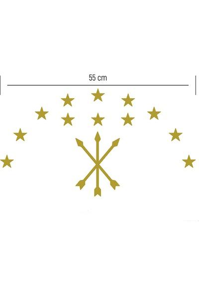 Anahtarlık Sepeti Adige Bayrak Folyo Kesim Etiket 55 x 30 cm