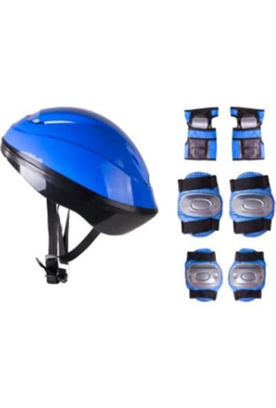 Cool Wheels Kask Dizlik Dirseklik Seti Mavi