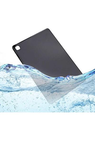 "Aşksesuar Samsung Galaxy Tab S6 Lite P610 10.4"" Kılıf Süper Tpu Slim Silikontablet Kılıfı + Nano Kırılmaz Ekran Koruyucu Siyah"