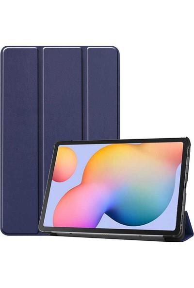 """Aşksesuar Samsung Galaxy Tab A7 10.4 T500 (2020)"""" Kılıf Standlı Uyku Modlu Smart Cover Akıllıtablet Kılıfı + Nano Kırılmaz Ekran Koruyucu+Kalem Lacivert"""