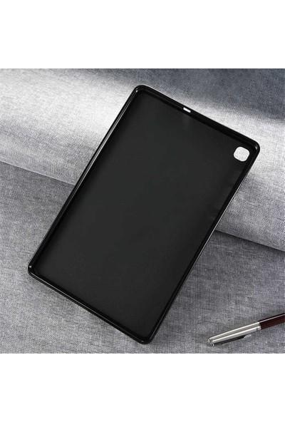 Aşksesuar Samsung Galaxy Tab A7 10.4 T500 (2020) Kılıf Süper Tpu Slim Silikontablet Kılıfı + Nano Kırılmaz Ekran Koruyucu Siyah