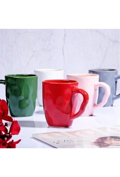 Keramika 6'lı Kupa Bardak Rengarenk