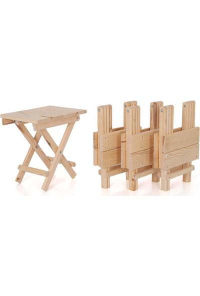 Masal Dünyası Katlanabilir Piknik Masa 4 Sandalyeli - Kamp Masası + Kamp Sandalyesi