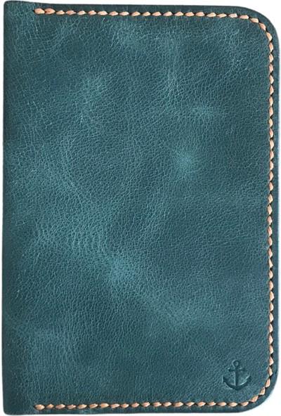 Somethingma El Yapımı Deri Pasaport Cüzdanı-Sierra