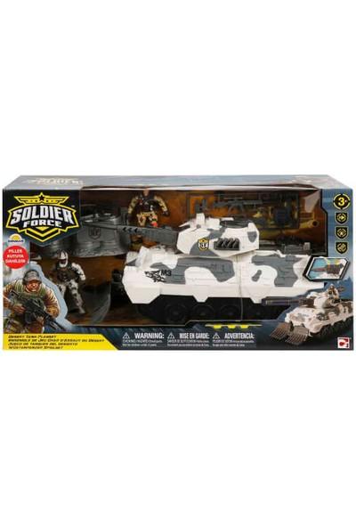 Chap Mei Sesli ve Işıklı Soldier Force Desert Tank Oyun Seti