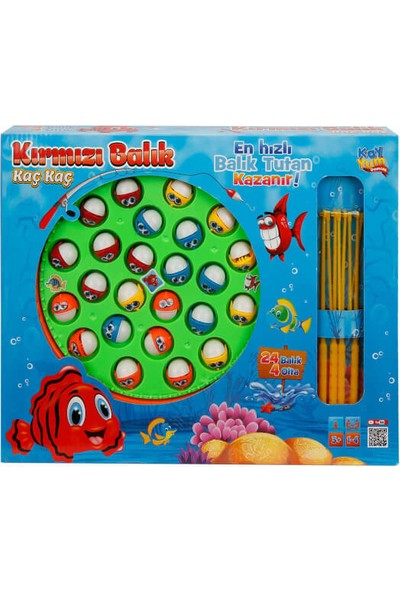 Kırmızı Balık Kaç Kaç Balık Tutma Oyun Seti 28 Parça Yeşil