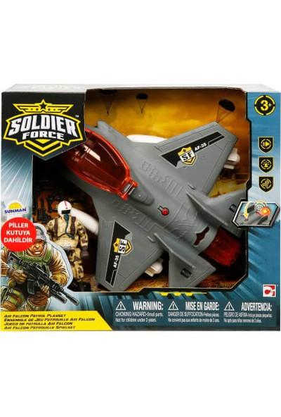 Sesli ve Işıklı Soldier Force Askeri Uçak Oyun Seti