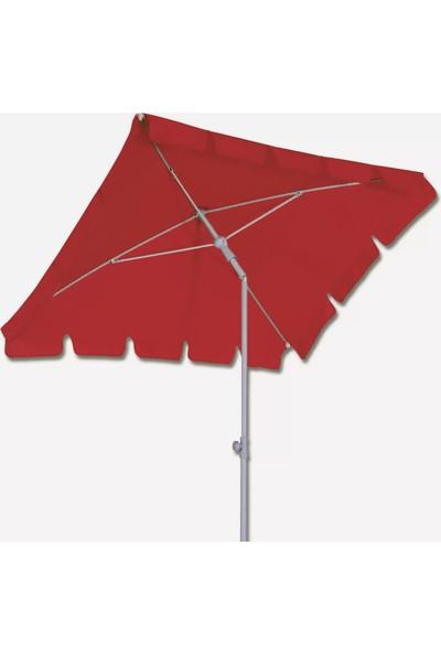 Sunfun Dikdörtgen Şemsiye - 120X180 cm - Kırmızı - Ürün Güneşten Korunma Için Uygundur