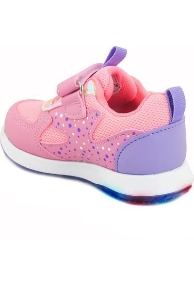 Işıklı Kız Çocuk Bebek Spor Ayakkabı Ortapedik