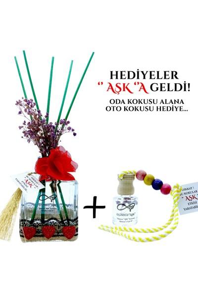 Aşk-ı Sermest Ölümsüz Aşk Çiçek Serisi Yasemin Kokulu 200 ml Küp Şişe Bambu Çubuklu Ortam Kokusu