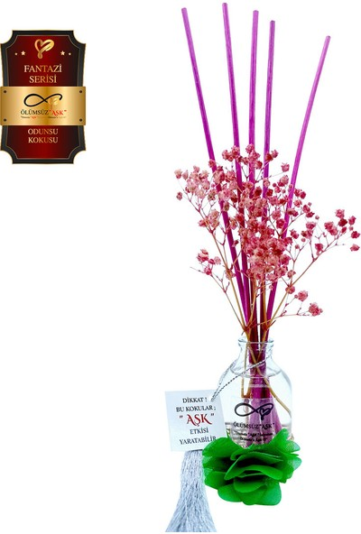 Aşk-ı Sermest Ölümsüz Aşk Fantazi Serisi Odunsu Kokulu 5 x 50 ml Oval Şişe Bambu Çubuklu Ortam Kokusu