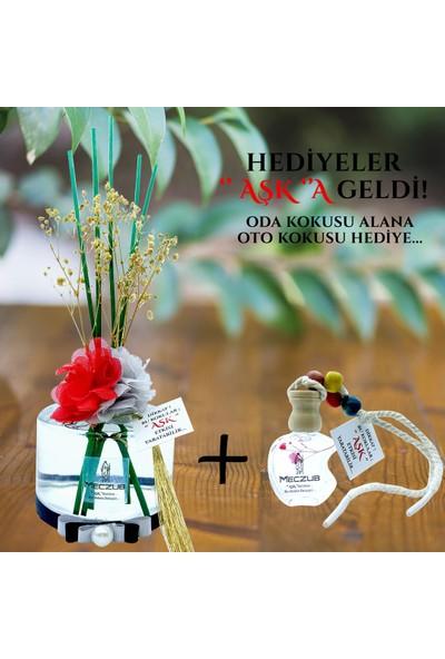 Aşk-ı Sermest Meczub Çiçek Serisi Bahar Esintisi Kokulu 200 ml Silindir Şişe Bambu Çubuklu Ortam Kokusu