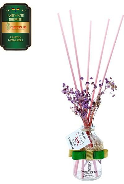 Aşk-ı Sermest Meczub Meyve Serisi Limon Kokulu 5 x 50 ml Oval Şişe Bambu Çubuklu Ortam Kokusu