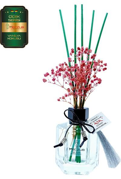 Aşk-ı Sermest Meczub Çiçek Serisi Vanilya Kokulu 5 x 120 ml Köşeli Şişe Bambu Çubuklu Ortam Kokusu