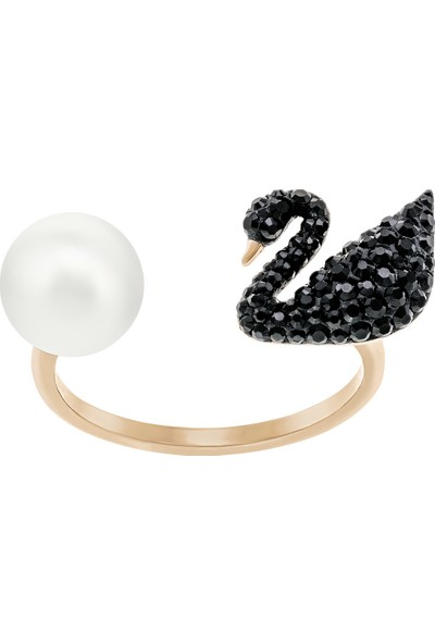Swarovski Swarovski Yüzük Iconıc Swan Ring Black 50