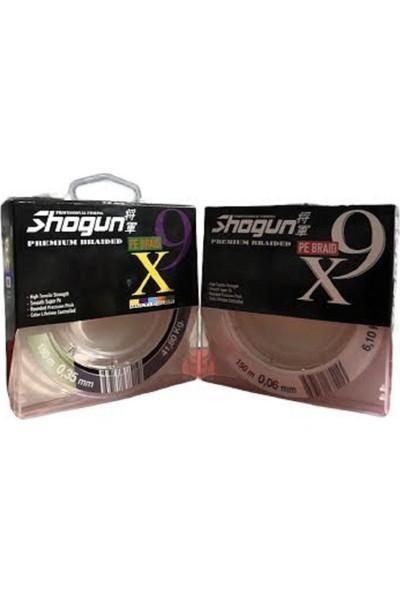 Shogun 9x Braid Ip Misina 0,18MM 150MT Multıcolour