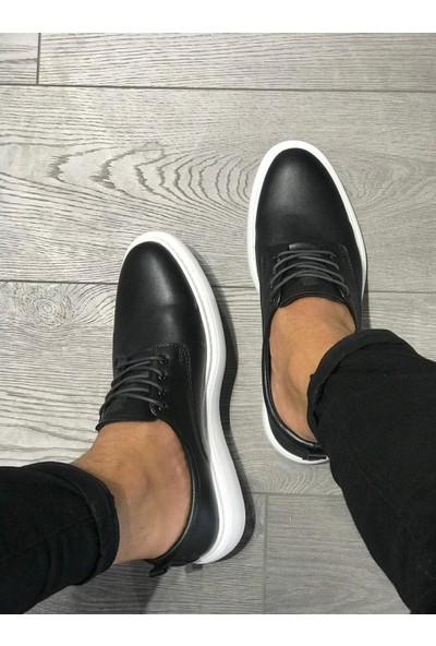 Orya Knack Klasik Erkek Ayakkabı 001 Siyah (Beyaz Taban)