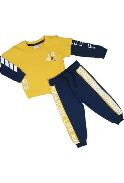 Markacity Erkek Bebek Modelli Ikili Takım 6-24 Ay Sarı