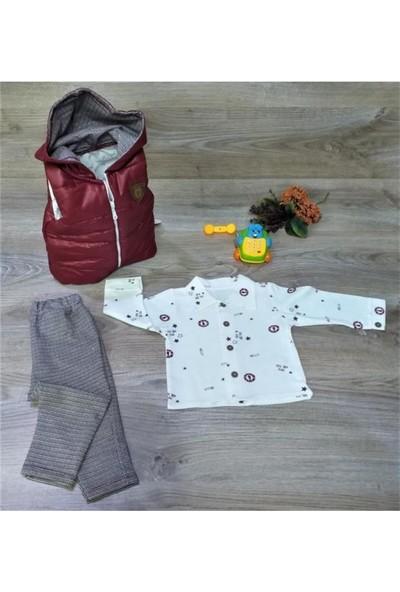 Markacity Hippıl Baby Gömlekli Şişme Yelekli 3'lü Takım