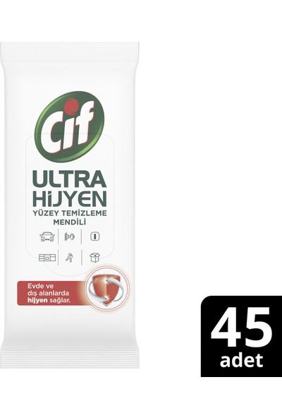 Cif Ultra Hijyen Sağlayan Yüzey Temizleme Mendili 45'li