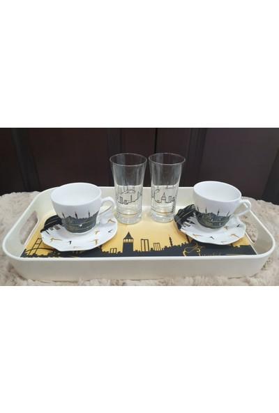 Es Dekor Istanbul Rüyası 2 Kişilik Kahve Seti Türk Kahvesi