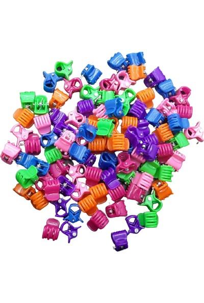 Merve Kırtasiye Mini Renkli Mandal Toka Set 100'LÜ (Küçük Boy)