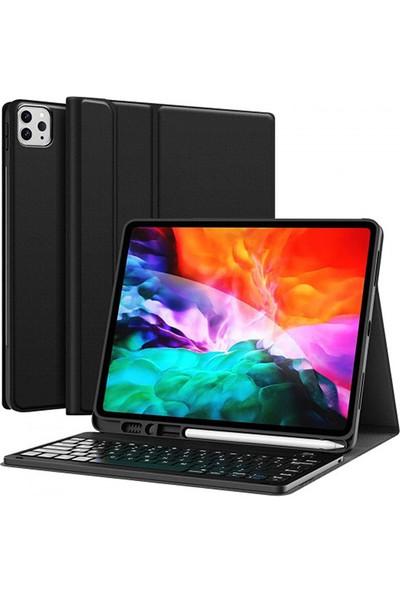 """Moserini iPad Pro 11 2020 A1980, A2013, A1934, A1979 11"""" Inç Klavyeli, Smart Tablet Kılıfı, Mıknatıslı, Kalemlik Bölümlü - Siyah"""