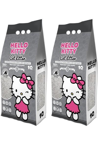 Garfield Hello Kıtty 10L Aktif Karbonlu Bentonit Kedi Kumu (2*10L)