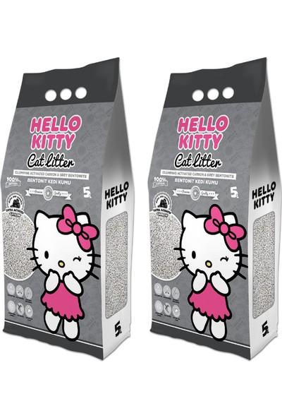 Garfield Hello Kıtty 5l Aktif Karbonlu Bentonit Kedi Kumu (2*5l)