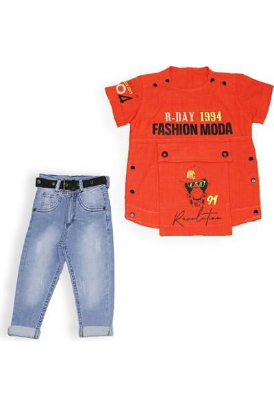 Yavrucak 3413 Yavrucak Fashion Moda Baskılı 2li Erkek Takım 1-4 Yaş
