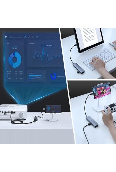 Ugreen Type-C To HDMI Aux Pd USB 3.0 Hub Dönüştürücü Adaptör