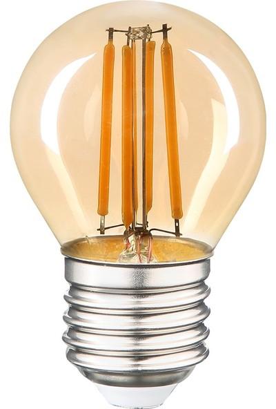 Heka Rustik Filament LED Ampul Gün Işığı 6W 2500K E27