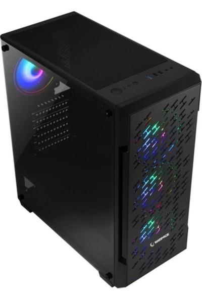 Rampage GalaXy 4 Adet 12CM RGB Ledli Gaming Oyuncu Bilgisayar Kasası + 600W 80 Plus Bronze Power Supply Güç Kaynağı