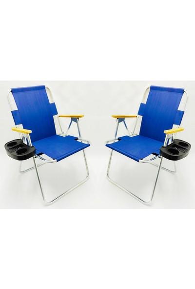 Hastunç 2'li Ahşap Kolçaklı Kamp ve Bahçe Sandalyeleri