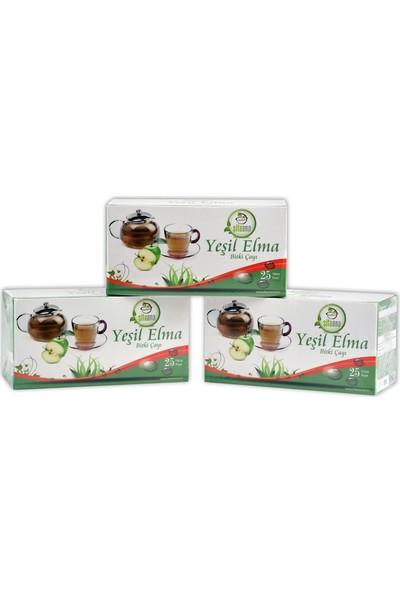 Şifa Ana Yeşil Elma Çayı Avantaj Paket ( 3 Kutu 25 Li Süzen Poşet 75 Içim)